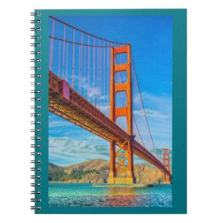 Golden Gate Bridge Photo Notebook (80 Pages B&W)