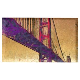 Golden gate bridge place card holder