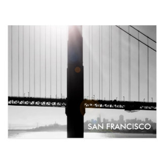 Golden Gate Bridge Postcard (Black & White)