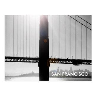 Golden Gate Bridge Postcard (Black & White)