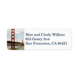 Golden Gate Bridge return address label 3