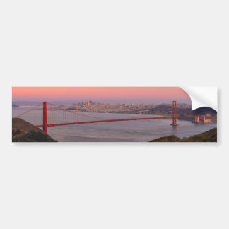 Golden Gate Bridge San Francisco at Sunrise Bumper Sticker
