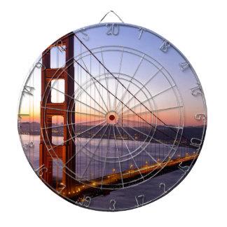 Golden Gate Bridge San Francisco at Sunrise Dartboard