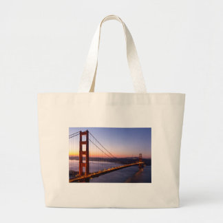 Golden Gate Bridge San Francisco at Sunrise Large Tote Bag