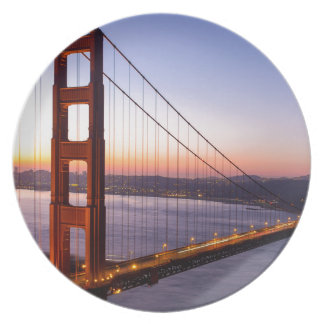 Golden Gate Bridge San Francisco at Sunrise Plate
