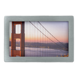 Golden Gate Bridge San Francisco at Sunrise Rectangular Belt Buckle