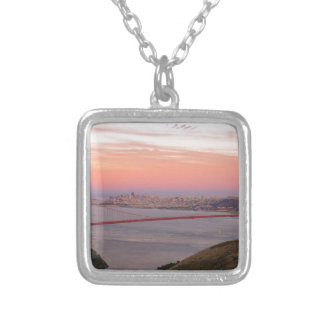 Golden Gate Bridge San Francisco at Sunrise Silver Plated Necklace