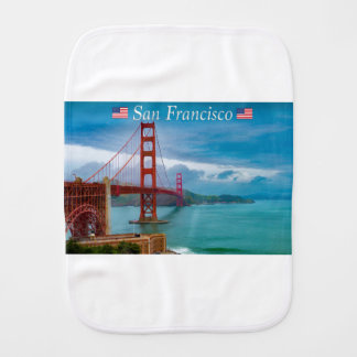 Golden Gate Bridge San Francisco Burp Cloth
