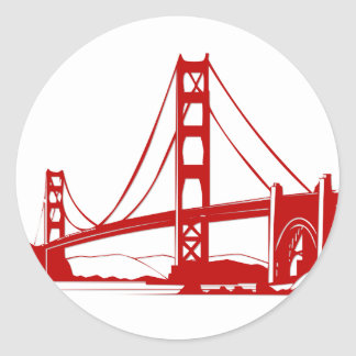 Golden Gate Bridge - San Francisco, CA Round Sticker