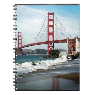 Golden Gate Bridge San Francisco CA Spiral Notebook