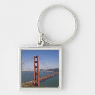 Golden Gate Bridge, San Francisco, California, 10 Silver-Colored Square Keychain