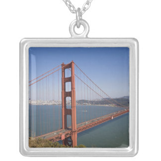Golden Gate Bridge, San Francisco, California, 10 Silver Plated Necklace