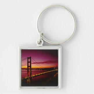 Golden Gate Bridge, San Francisco, California, 5 Silver-Colored Square Keychain