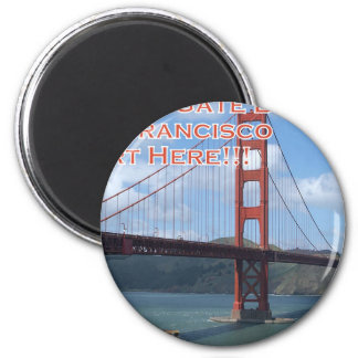 Golden Gate Bridge San Francisco California USA 2 Inch Round Magnet