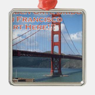 Golden Gate Bridge San Francisco California USA Metal Ornament