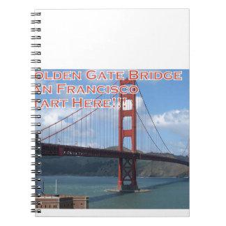 Golden Gate Bridge San Francisco California USA Notebooks