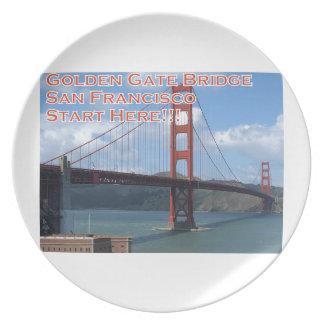 Golden Gate Bridge San Francisco California USA Plate