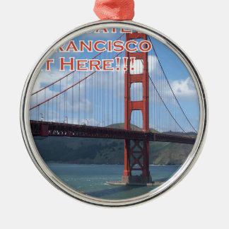 Golden Gate Bridge San Francisco California USA Silver-Colored Round Ornament