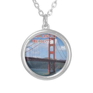 Golden Gate Bridge San Francisco California USA Silver Plated Necklace
