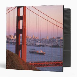 Golden Gate Bridge; San Francisco; California; Vinyl Binder
