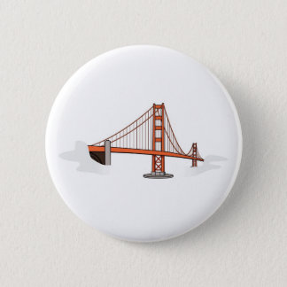 Golden Gate Bridge   San Francisco Destination 2 Inch Round Button