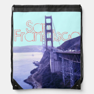 Golden Gate Bridge San Francisco Drawstring Bag