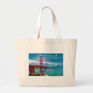 Golden Gate Bridge San Francisco Large Tote Bag