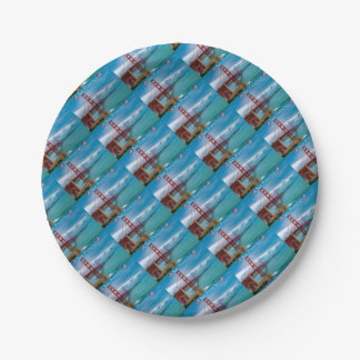 Golden Gate Bridge San Francisco Paper Plate