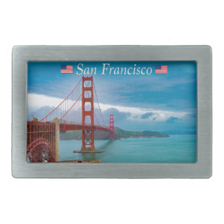 Golden Gate Bridge San Francisco Rectangular Belt Buckle