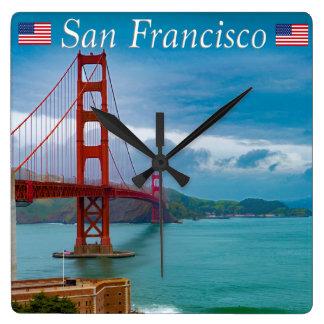 Golden Gate Bridge San Francisco Square Wall Clock