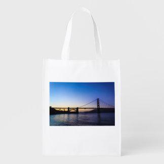 Golden Gate Bridge Sunset Reusable Bag Market Tote