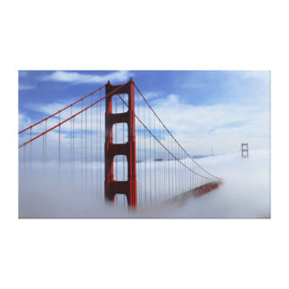 Golden Gate Bridge Swaddled in Clouds Canvas Print