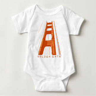 Golden Gate Bridge Tower - Orange Baby Bodysuit