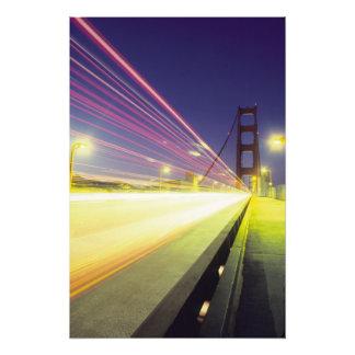 Golden Gate Bridge, traffic lights, San Photo Print
