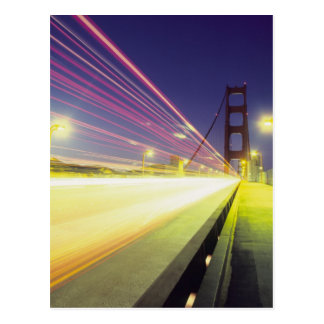 Golden Gate Bridge, traffic lights, San Postcard