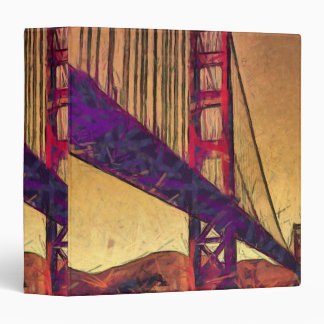 Golden gate bridge vinyl binder