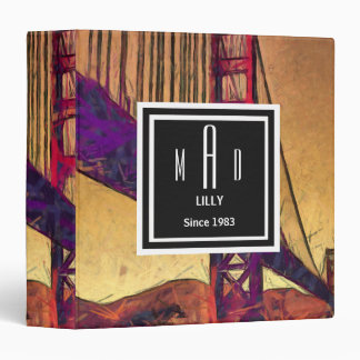 Golden gate bridge vinyl binders