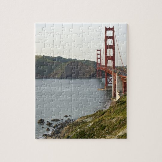 Golden Gate bridge with view to Marin County Jigsaw Puzzle