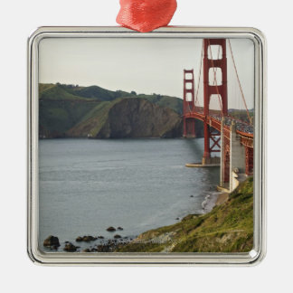 Golden Gate bridge with view to Marin County Metal Ornament