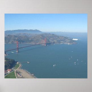 Golden Gate Bridge with Zeppelin Poster