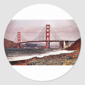 Golden Gate Classic Round Sticker
