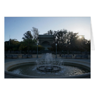 Golden Gate Park Music Concourse #3 Card
