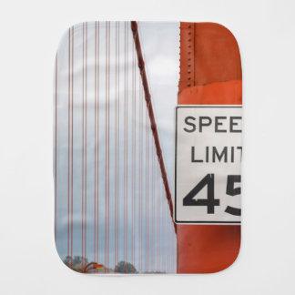 golden gate speed limit burp cloth