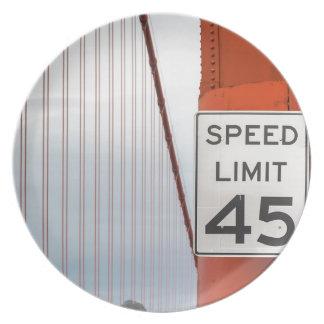golden gate speed limit dinner plates