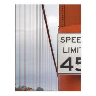 golden gate speed limit postcard