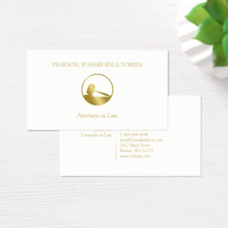 Golden Gavel Icon Attorney at Law Business Card