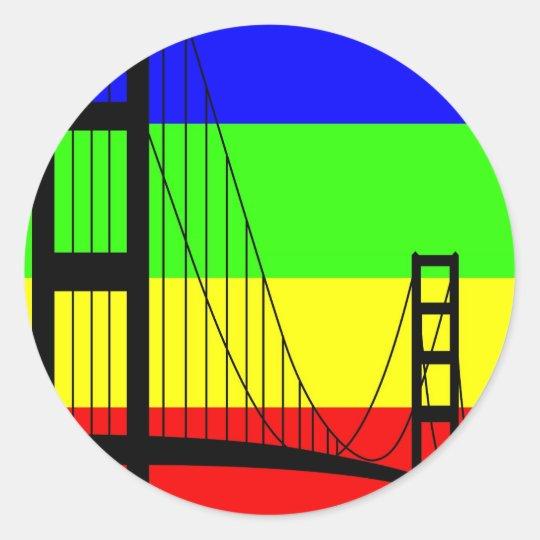Golden Gay Classic Round Sticker