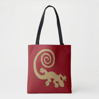 Golden Gecko with Spiral Tail Tote Bag
