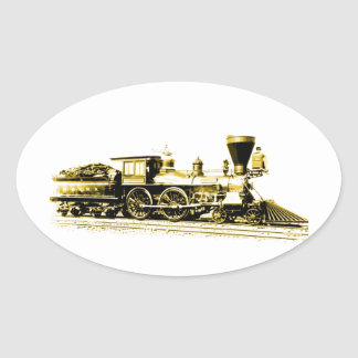 Golden General Oval Sticker