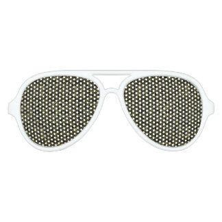 Golden Geo Tribal Pattern Aviator Sunglasses